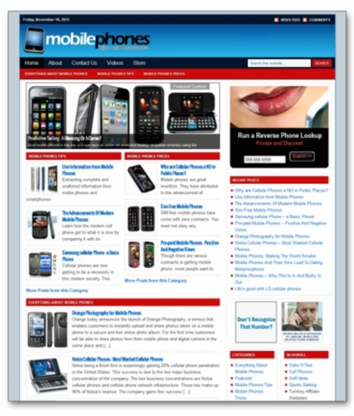 Product picture Mobile Phones Niche Blog + Private Label Rights